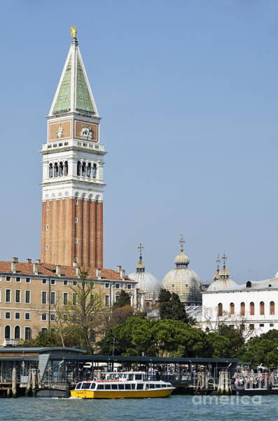 Wall Art - Photograph - San Marco Bell Tower By Grand Canal by Sami Sarkis