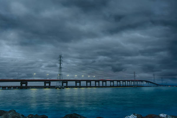 San Mateo Bridge Wall Art - Photograph - San Mateo Bridge by Mike Gifford