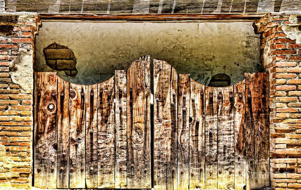 Photograph - San Miguel Mission Wooden Gate Doors By Diana Sainz by Diana Raquel Sainz