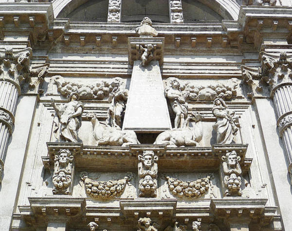 Relief Wall Art - Photograph - San Moise Church In Venice Italy  by Irina Sztukowski