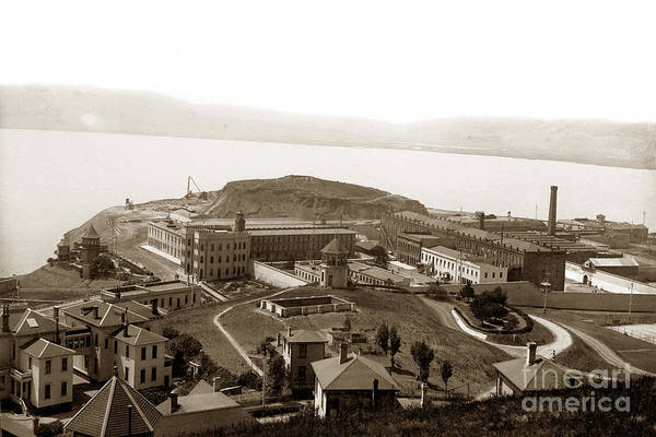 Photograph - San Quentin State Prison California Opened In July 1852 Circa 1910 by California Views Archives Mr Pat Hathaway Archives