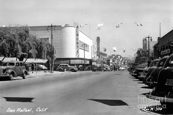 Photograph - 4th Street San Rafael California Circa 1948 by California Views Archives Mr Pat Hathaway Archives
