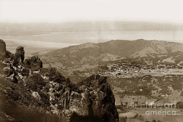 Photograph - San Rafael From Mount Tamalpais California Circa 1905 Photo By Putnam- Valentine by California Views Archives Mr Pat Hathaway Archives