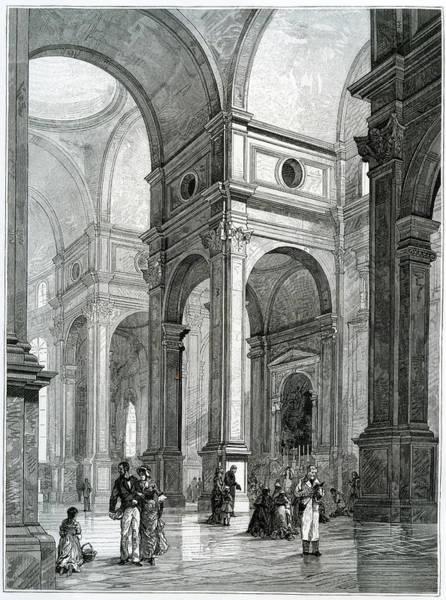 18th Century Digital Art - San Salvador, Interior, Venice by Goldhafen