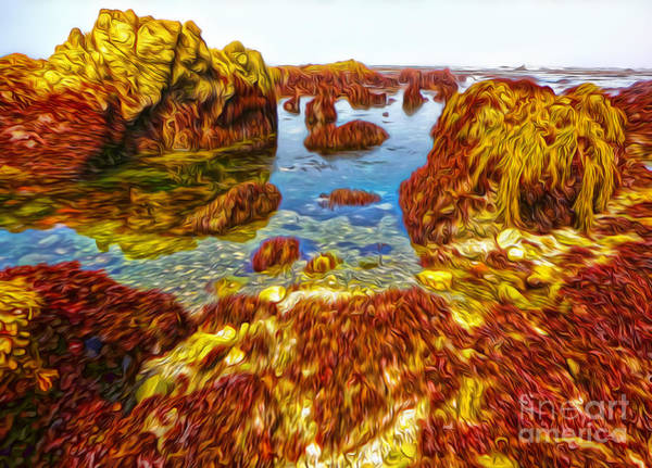 Painting - San Simeon - Sea Shore - 03 by Gregory Dyer