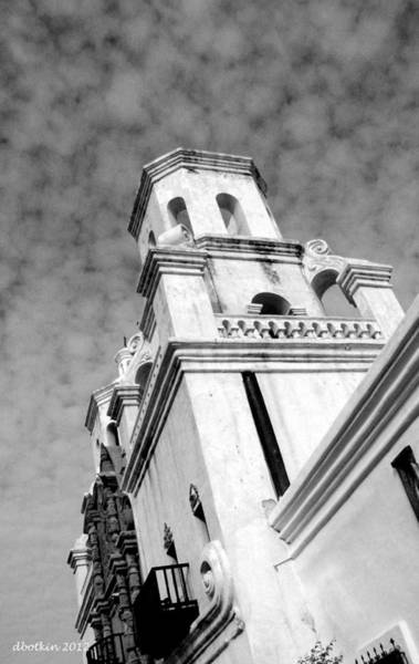 Misson Photograph - San Xavier Bell Tower by Dick Botkin