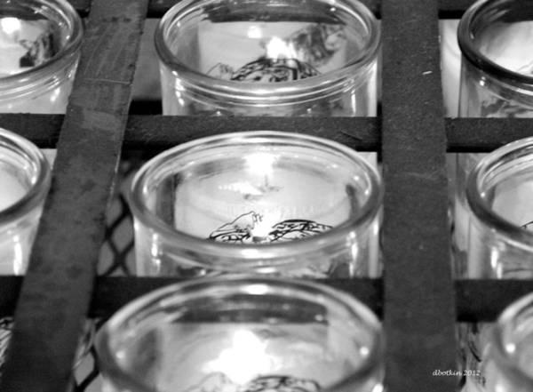 Misson Photograph - San Xavier Prayer Candles by Dick Botkin