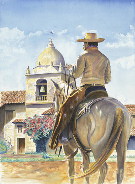 Spanish Missions Wall Art - Painting - Sanctuary At Carmel by Don Dane