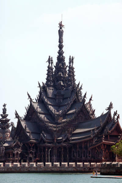 Thailand Photograph - Sanctuary Of Truth, Wooden Temple by John Borthwick
