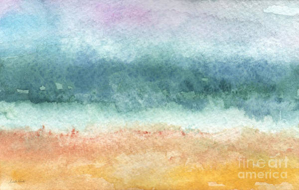 Gray Wall Art - Painting - Sand And Sea by Linda Woods
