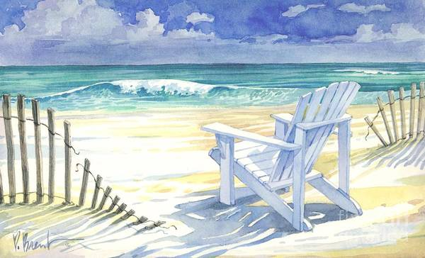 Adirondack Chair Wall Art - Painting - Sand And Shadows by Paul Brent