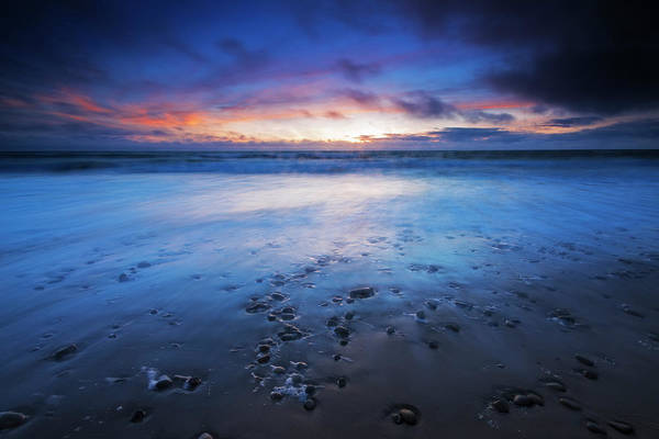 Untamed Photograph - Sand And Surf At Dusk, San Buenaventura by Russ Bishop