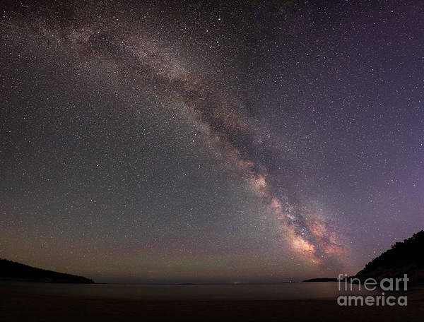 Mv Photograph - Sand Beach Milky Way Panorama  by Michael Ver Sprill