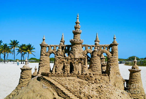 Photograph - Sand Castle by Les Palenik