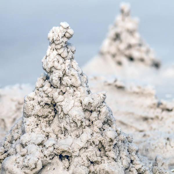 Photograph - Sand Castle Structures Built At Seashore by Alex Grichenko