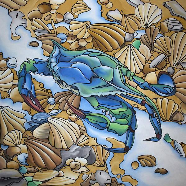 Blue Sally  Art Print