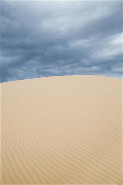 Photograph - Sand Dunes And Dark Clouds by Steven Schwartzman