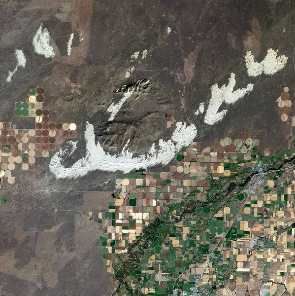 North Idaho Photograph - Sand Dunes And Fields by Nasa/science Photo Library