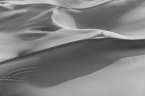 White Wolf Photograph - Sand Dunes In The Desert, Monochrome by Moritz Wolf