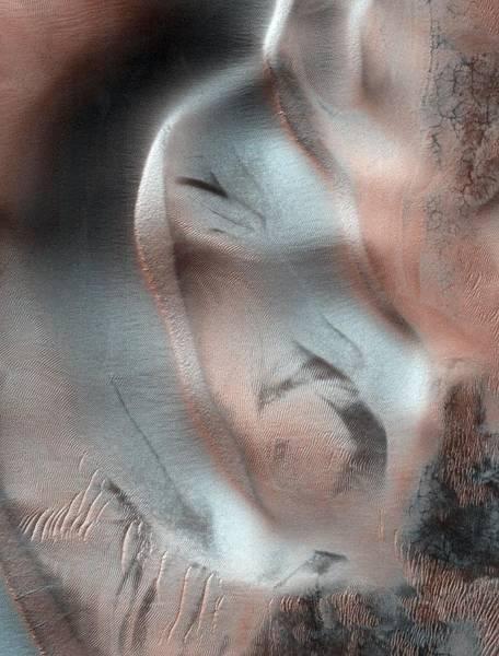 Reconnaissance Photograph - Sand Dunes On Mars by Nasa