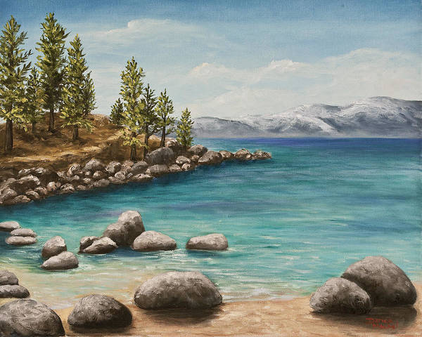 Painting - Sand Harbor Lake Tahoe by Darice Machel McGuire