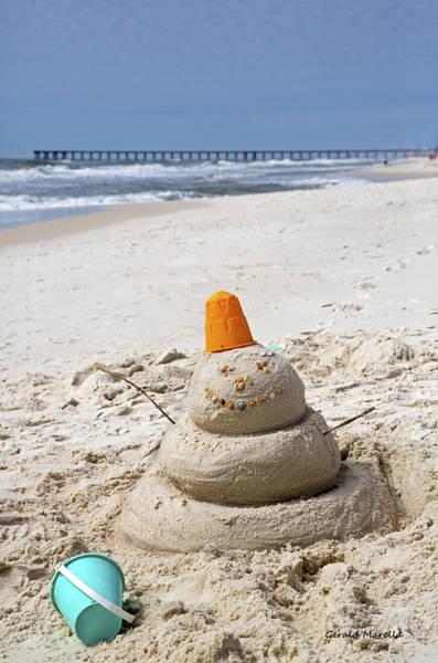 Wall Art - Photograph - Sand Man Panama City Beach Florida by Gerald Marella