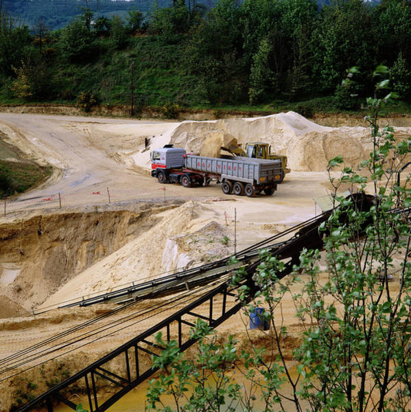Mining Photograph - Sand Quarry by Robert Brook/science Photo Library