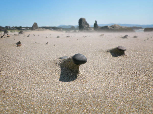 Photograph - Sand Stones by Micki Findlay