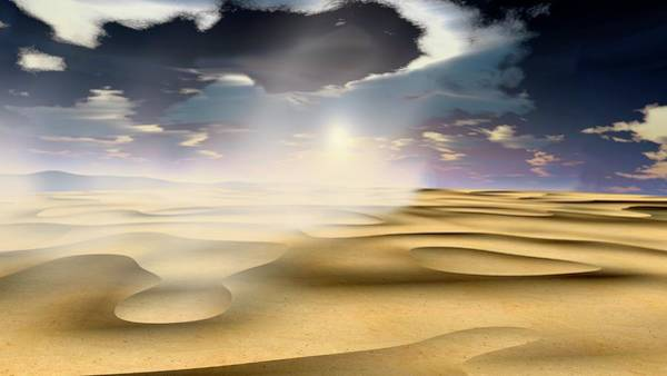 Wall Art - Photograph - Sand Storm by Nasa/science Photo Library