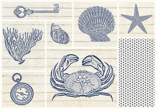 Wall Art - Drawing - Sand Treasures A Horizontal -2  by MGL Meiklejohn Graphics Licensing