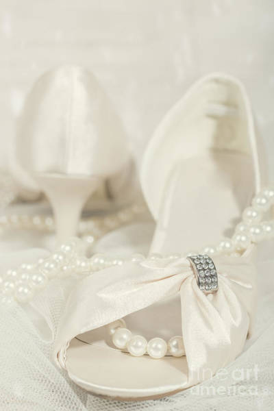Platinum Photograph - Sandals And Pearls by Amanda Elwell