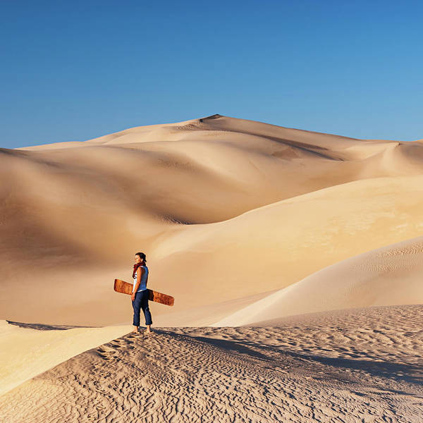 Extreme Sport Photograph - Sandboarding In The Sahara Desert by Hadynyah