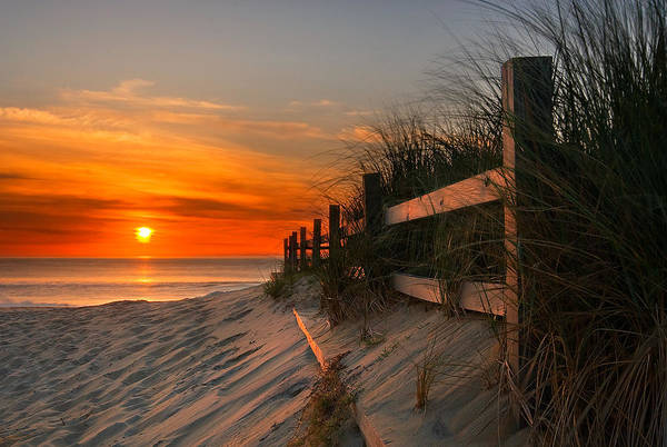 Fences Wall Art - Photograph - Sandbridge Sunrise by Doug Roane