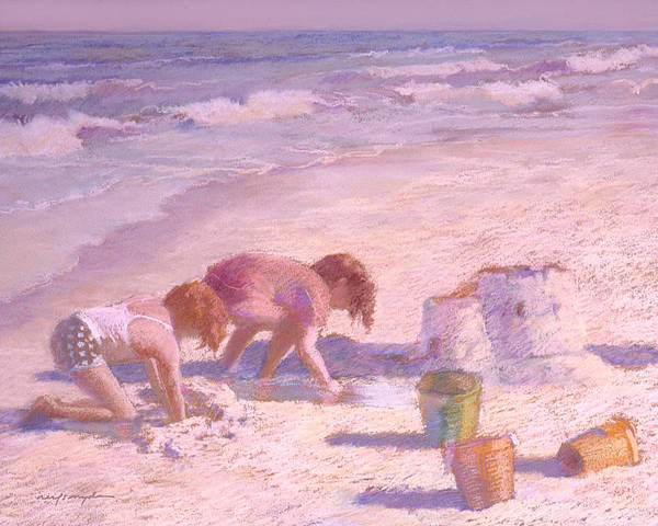 Painting - Sandcastle by J Reifsnyder