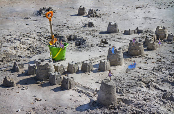 Perspective Digital Art - Sandcastle Squatters by Betsy Knapp