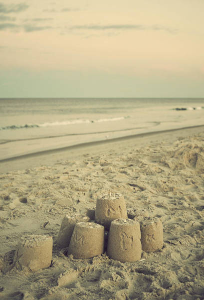 Photograph - Sandcastle - Vintage by Terry DeLuco