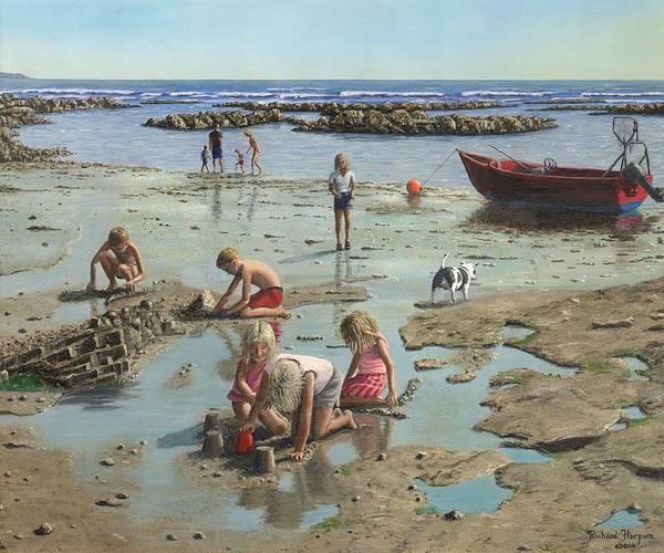 Sand Castle Painting - Sandcastles by Richard Harpum