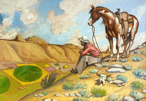 Painting - Sandhills Overlook by Bern Miller