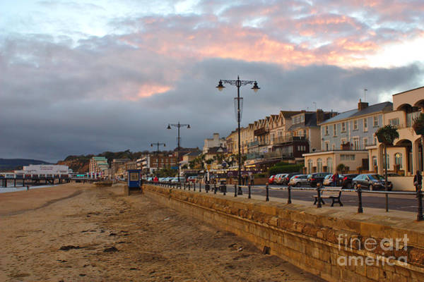 Photograph - Sandown Esplanade At Sunset by Jeremy Hayden