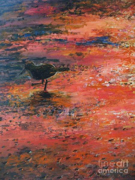 Cape May Painting - Sandpiper Cape May by Eric  Schiabor