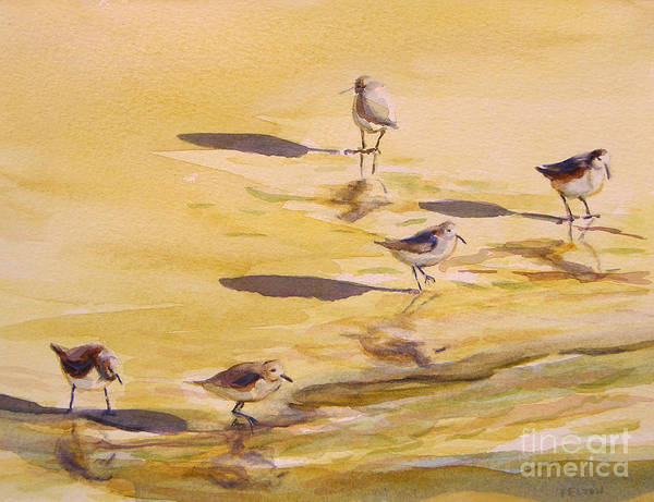 Painting - Sandpipers 5 by Julianne Felton