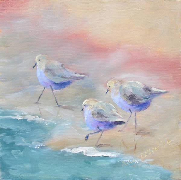 Wall Art - Painting - Sandpipers by Susan Richardson