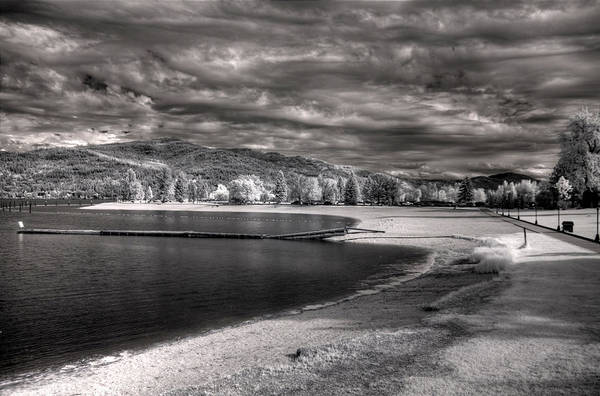 Photograph - Sandpoint City Beach In Infrared 1 by Lee Santa