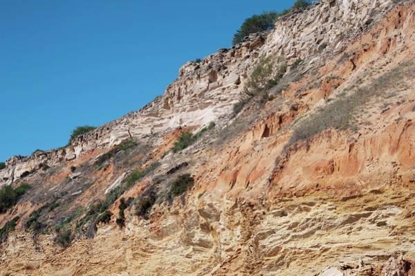 Marine Layer Photograph - Sandstone Cliffs by Jon Wilson