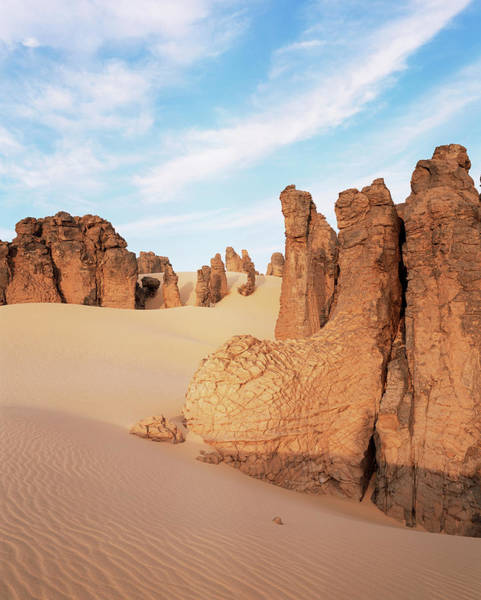 Desert Varnish Photograph - Sandstone Pillars by Sinclair Stammers/science Photo Library