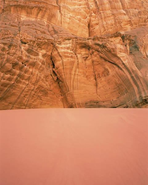 Desert Varnish Photograph - Sandstone Rock by David Parker/science Photo Library