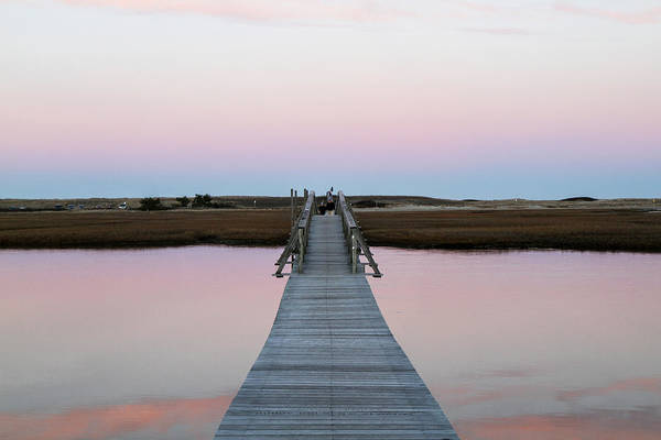 Cape Cod Sunset Photograph - Sandwich Boardwalk, Cape Cod by Susan Pease