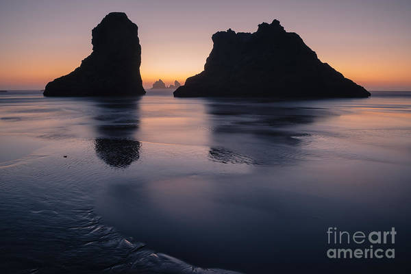 Photograph - Twilight And Seastacks by Gene Garnace