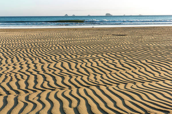 Horizontal Stripes Photograph - Sandy Beach With Natural Striped by Danita Delimont