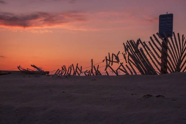 Photograph - Sandy Dune Fence by Tom Singleton